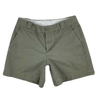GAP Women's 2 Khaki Chino Cotton Causal Walking Shorts Pockets Olive Green