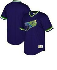 Mitchell & Ness Tampa Bay Rays Baseball Jersey New Mens Sizes MSRP $90