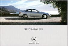 Mercedes-Benz CLK Coupe 2002-04 UK Market Sales Brochure 200K 240 320 500 270CDi