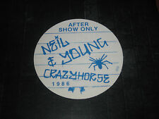 NEIL YOUNG&CRAZY HORSE 1986 ORIGINAL BACKSTAGE PASS***OTTO**AFTER SHOW SILK PASS