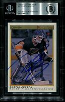 CURTIS JOSEPH signed autographed 1990-91 OPC PREMIER ROOKIE CARD RC BECKETT BAS