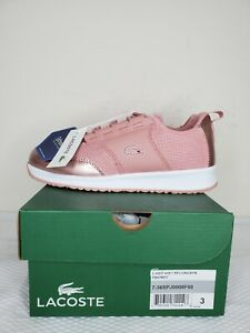 Lacoste Kids Pink/White L.ight Shoes Size: 3