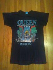 VTG Queen 1980 rock concert Tour shirt Screen Stars Freddie Mercury Brian May SM