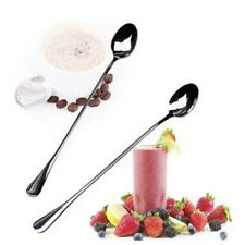 Stainless Steel Long Spoons Ice Cream Cocktail Teaspoons Coffee Soup Tea Spoons*