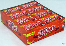 Chewy Red Hots Sizzling Sours Candy 24 Ct Candies Bulk Ferrara Pan Redhot Hot