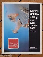 retro magazine advert 1983 ADAMAS guitar / strings