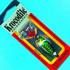 Luhr-Jensen Holographic Krocodile 1/4 oz Green Mackerel SureSet Fishing Spoon