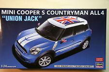 "Mini Cooper S countryman all4 ""union Jack"" - Hasegawa kit montaggio auto 1/24"