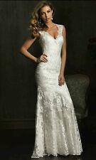 New White/Ivory Mermaid Lace Bridal Gown Wedding dress Custom 4 6 8 10 12 14 16+