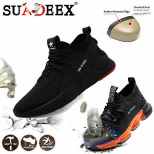 MENS & WOMENS SAFETY TRAINERS WORK LIGHTWEIGHT STEEL TOE CAP BOOTS SHOES SPORTS