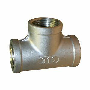 STAINLESS STEEL 316 EQUAL TEE BSP 150lbs