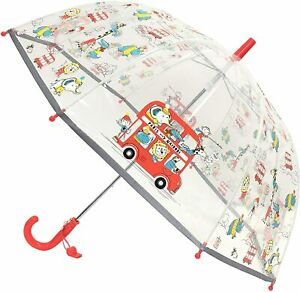 Smati Kids Umbrella Zoo Animals With Fluorescent Border In Darkness With Whistle