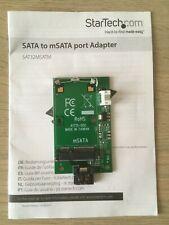 More details for sata to msata port adapter starttech sat32msatm