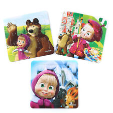 3 PCS Masha & Bear Jigsaw Puzzles Toys for Boys & Girls Ages 3+ (H020-123)