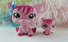 Littlest Pet Shop Pink Mommy Pig and Baby Piglet #3595 #3596