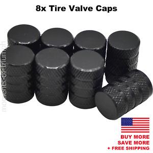 8x Universal Tire Valve Stem Caps For Car, Truck Standard Fitting (Black)
