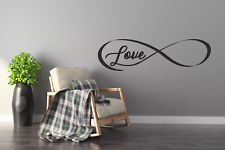 INFINITY LOVE Faithfulnes Wall Stickers Art Room Wall Decal Art Quote Decoration
