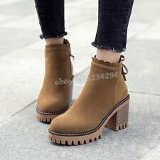 Damen Worker Boots Plateau Stiefeletten Leder-Optik Stiefel 826097 Trendy Neu