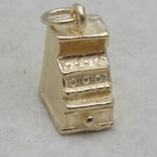 3D 9 CARAT GOLD CHARM OF AN OLD FASHIONED CASH REGISTER