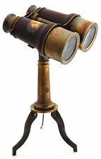 Nautical Brass Binocular Leather Grip Binocular With Tripod Spyglass Binocular