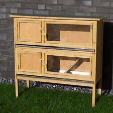 Kaninchenstall Kleintierstall doppelstöckig Hasenstall Hamsterkäfig aus Holz