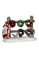 Lemax Village Collection Fresh Homemade Christmas Wreaths 4 Sale #54942