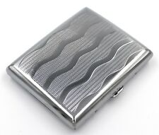 Victorian Style Cigarette Metal Case Double Sided King & 100s Wavy Pattern L