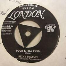 """Ricky Nelson(7"""" Vinyl)Poor Little Fool / Don't Leave Me This Way-London-Ex/VG+"""