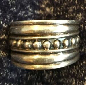 Silver Plate Ring Mens Hand Crafted