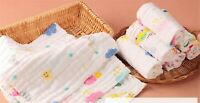 3x Baby New Born Gauze Muslin Square Cotton Bath Wash cloths bibs Towel 30*30