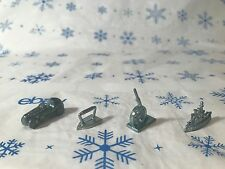 Game Pieces Monopoly ~ Lot of 4~Car, Iron, Ship and Cannon