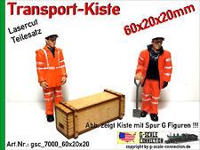 Spur G Lasercut 2x Transport Kiste 60x20x20mm aus Holz für z.B. LGB PIKO G