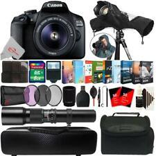 Canon EOS 2000D 24.1MP DSLR Camera + 18-55mm & 500mm Lens Accessory Kit