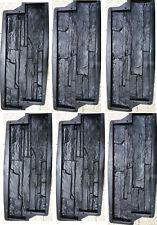 6 Stampi cemento - gesso matrice Rivestimento finta pietra fai da te mattoncini