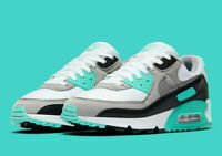 Nike Women's Air Max 90 Running Shoes White Hyper Turquoise Grey CD0490-104 NEW