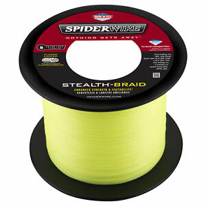 SPIDERWIRE STEALTH Braid 1500 Yards- Yellow - Pick Line Class Free FAST Shipping