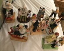 Lot of 8 beautiful vintage Norman Rockwell Figurines 1979-80