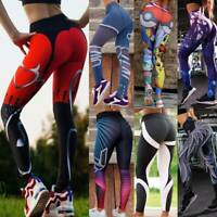 FITTOO Women High Waist Yoga Pants Push Up Leggings Ruched Sports Fitness Gym AM