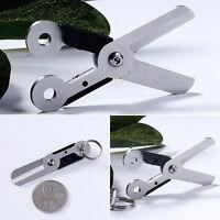 Survival Mini Outdoor Mini Spring Scissor Pocket Tool Stainless Steel Key DO00