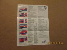 MLB Los Angeles Dodgers Vintage 1990 Schedule Ticket Informatiom W/Player Photos