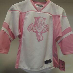 NHL REEBOK Florida Panthers Hockey Jersey New Girls MEDIUM (10/12) MSRP $45