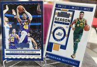 2019-20 Donovan Mitchell Panini Contenders 2 Card Lot Season Ticket Front Row