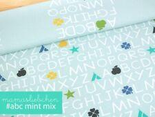 """Jersey-Stoff Mädchen Baby Damen Einschulung """"ABC #mint-mix"""" - Panel ca. 0,55m"""