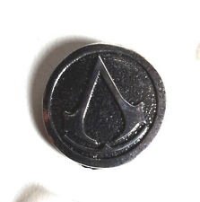 "Assassin's Creed Curved Logo Metal Pin 1.25""- FREE S&H"