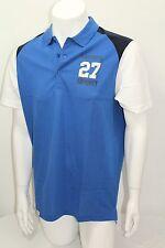 Lacoste Sport 100% Cotton Men Polo Shirt S-Sleeve Color Blue Sz 5 = Medium NWT