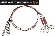 Savage Gear Raw 49 Uncoated Trace Stahlvorfach Hecht Raubfisch Karbonstahl 3 Stk