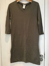 American Vintage Khaki Green Cotton Dress 3/4 Long Sleeve M Medium New NWOT
