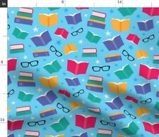 Books Eyeglasses Reading Library School Fabric Printed by Spoonflower Bty