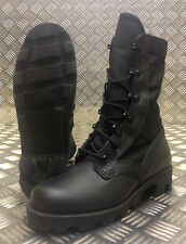 Genuine British Army Black Leather Warm Weather High Leg Boot. Size 4½ - NEW