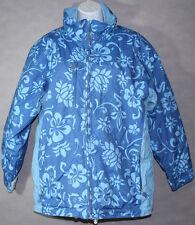 Girls JUNIORS OBERMEYER DELANEY Blue Floral WINTER SNOW JACKET Coat Size XL